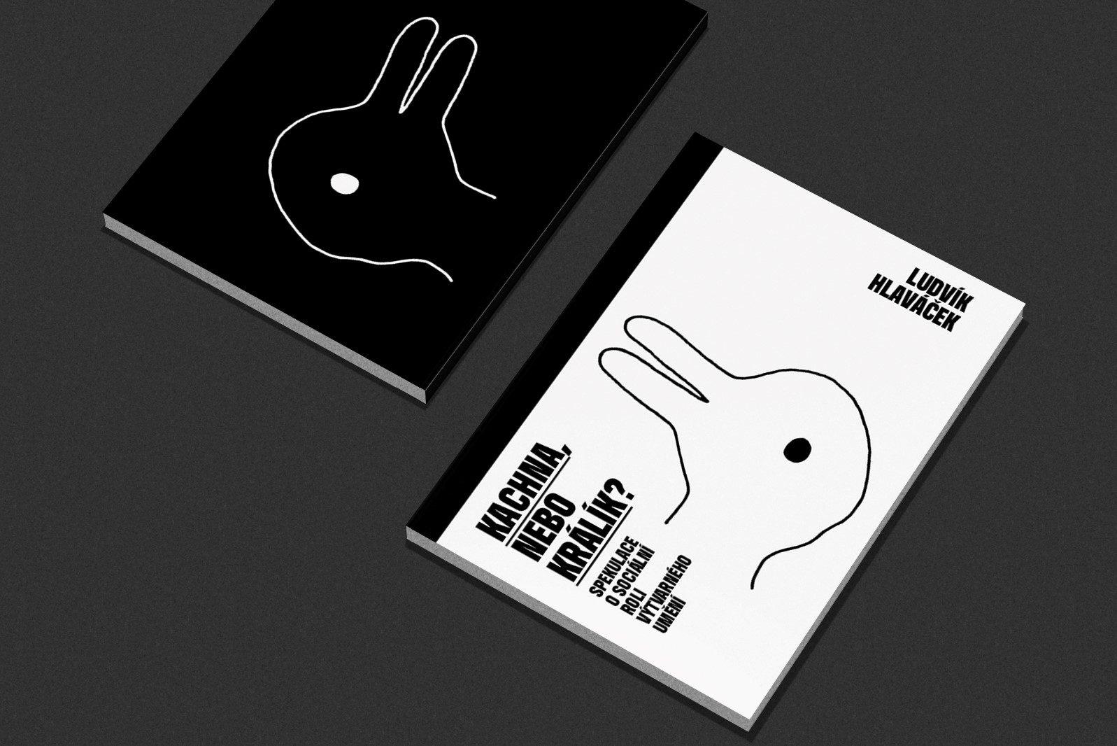 Ludvík Hlaváček. Kachna, nebo králík? Spekulace o sociální roli výtvarného umění.  Návrh obálky Tomáš Trnobranský. Edice  FUD.